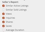 listing metrics email settings